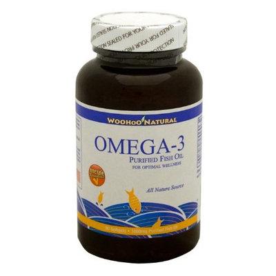 Woohoo Natural Omega-3 Purified Fish Oil - All Nature Source - 90 Softgels