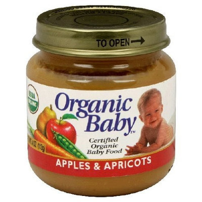 Organic Baby Organic Baby Food, Apples & Apricots, 4-Ounce Jars (Pack of 24)