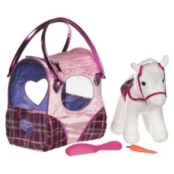 Branford Pucci Pups Pink Plaid Classic Pony Bag