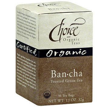 Choice Organic Teas Bancha Hojicha Roasted Japanese Green Tea Bags