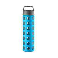 Ello Pure BPA-Free Glass Water Bottle with Lid, 20 oz [Coral Fizz]