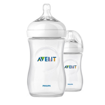 Philips Avent BPA Free Natural 9 Ounce Polypropylene Bottles, 2-Pack