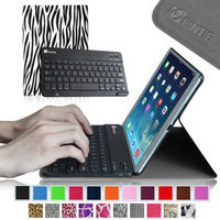 Fintie SmartShell Cover with Wireless Bluetooth Keyboard Case for Apple iPad Air / iPad 5, Zebra Black