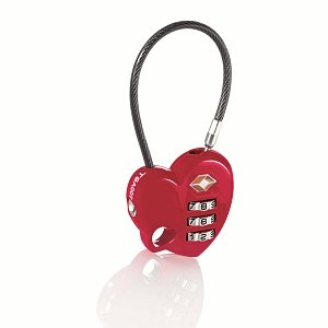 Travel Smart by Conair Heart Shaped Luggage Lock