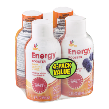 Ahold Energy Booster Grape - 4 CT