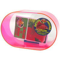 Zoo Med Betta House 2 Gallon Oval Racetrack Neon Pink