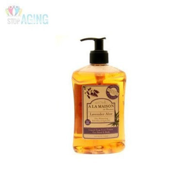 A La Maison French Liquid Soap Lavender Aloe 16.90 Ounces