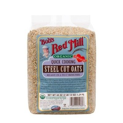 Bob's Red Mill Organic Quick Cooking Steel Cut Oats 44 oz