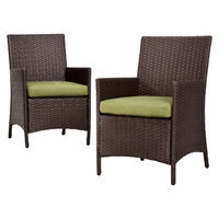 Foremost Thornquist 2-Piece Wicker Patio Dining Chair Set
