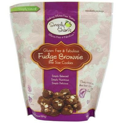 Simply Shari's Gluten Free Fudge Brownie Bites, 6.5-Ounce Pouches (Pack of 6)
