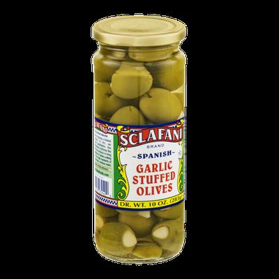 Sclafani Garlic Stuffed Olives Spanish