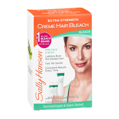 Sally Hansen Creme Hair Bleach for Face & Body Extra Strength