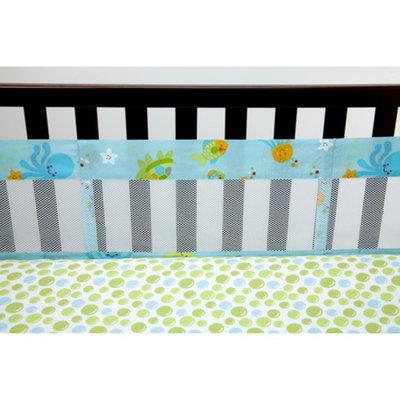 Little Bedding by NoJo Ocean Dreams Secure-Me Crib Liner