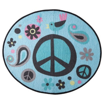 Allure Home Creation World of Peace Bath Rug