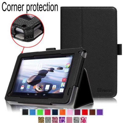 Fintie Premium Vegan Leather Slim Fit Stand Cover for Acer Iconia B1-720 7 -Inch Tablet, Black