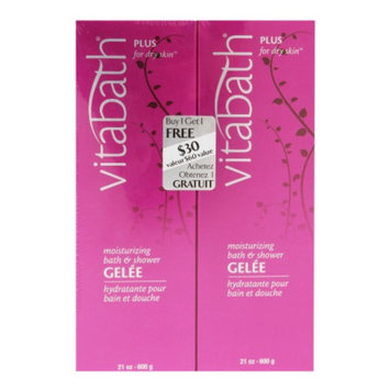 Vitabath Moisturizing Bath & Shower Gelee Buy One, Get One Free Bonus Pack, Plus for Dry Skin, 1 ea