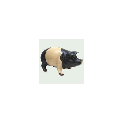 Pro 10 Black & White Iron Piggy Bank 7 Inch