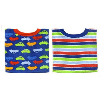 Hamco Bibsters Boy 2 Pack Cars Pullover Bib Set
