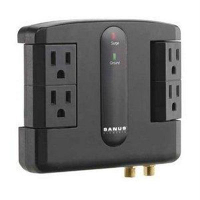 Sanus Systems ELM203-B1 3-Outlets Surge Suppressor