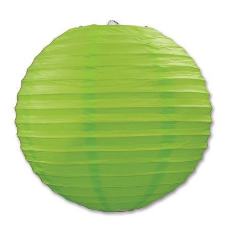 Party Central Club Pack of 6 Round Light Green Hanging Paper Lanterns 9.5