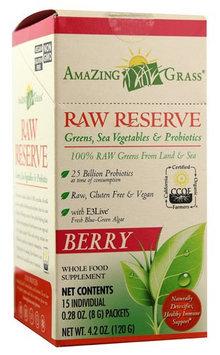 Amazing Grass Raw Reserve Greens, SEa Vegetable & Probiotics Berry 15 Packets - Vegan