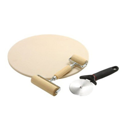 Norpro Baking Stone Pizza Making Set - 3 piece