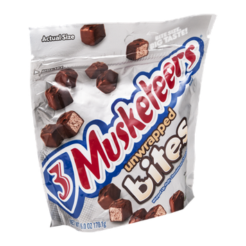 3 Musketeers Candy Bar Unwrapped Bites