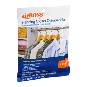 airBOSS Hanging Closet Dehumidifier Packs - 2 CT