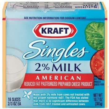 Kraft Singles 2% Milk American Cheese