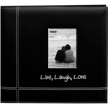 Pioneer Embroidered Stitched Leatherette Postbound Album