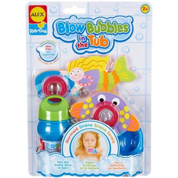 ALEX Toys Rub a Dub Blow Bubbles in the Tub, Mermaid