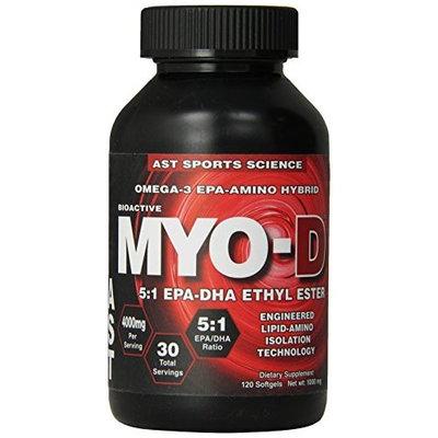 AST Sports Science Bioactive Omega-3 EPA Amino Hybrid, Myo-D , 120 softgels