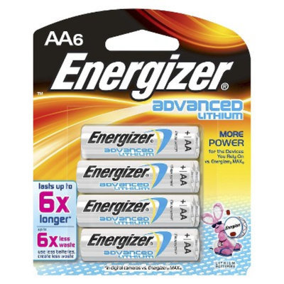 Energizer Advanced Lithium AA Batteries 6 Count (EA91BP-6)