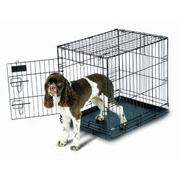 Petmate 21031 Pet Home Training Wire Kennel, Black, Medium