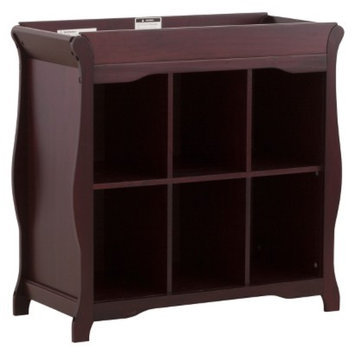 Stork Craft 6 Cube Organizer/Changing Table - Cherry