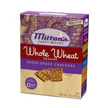 Milton's Crackers - Whole Wheat & Sesame Bites, 9-Ounce (Pack of 6)