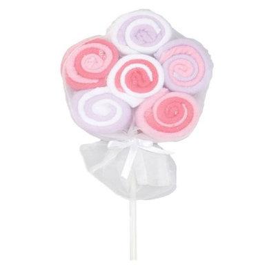 TenderTyme 1736 Lollipop Washcloth Pink - Pack of 12