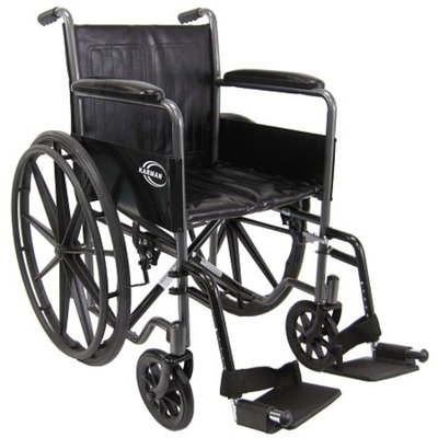 Karman 18 inch Steel Wheelchair with Fixed Armrests