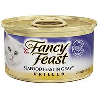 Fancy Feast Wet Cat Food, Grilled, Seafood Feast in Gravy, 3-Ounce Can, Pack of 24
