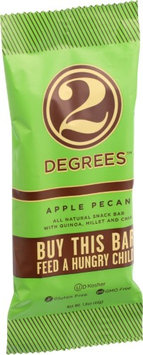 Two Degrees B04474 Two Degrees Apple Pecan Bars - 9x1.6Oz