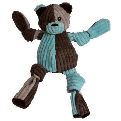 HuggleHounds Patchie Knotties Bear Dog Toy