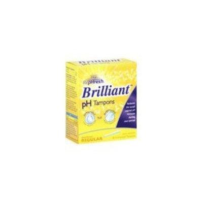 RepHresh Brilliant vaginal pH tampons, regular absorbency, Unscented - 18 ea