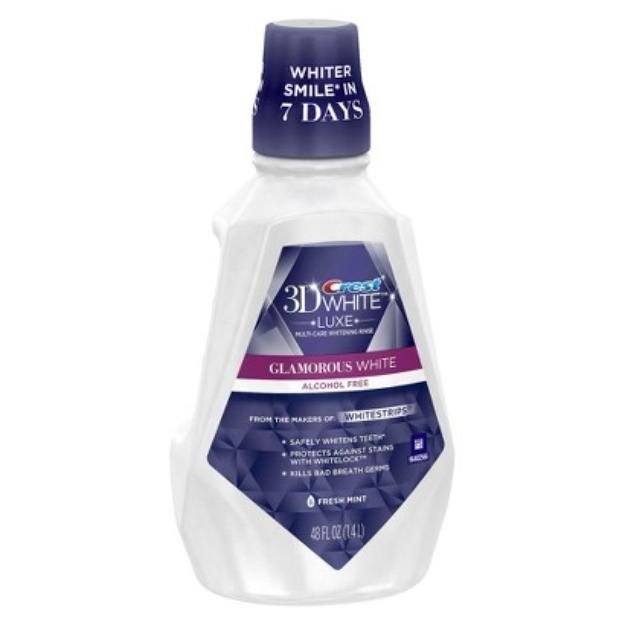 Crest 3D White Fresh Mint Mouthwash - 48 oz
