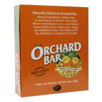 Orchard Bars Fruits & Nuts 12/1.4oz, Apricot Peanut Crunch Bar, 16.8 oz