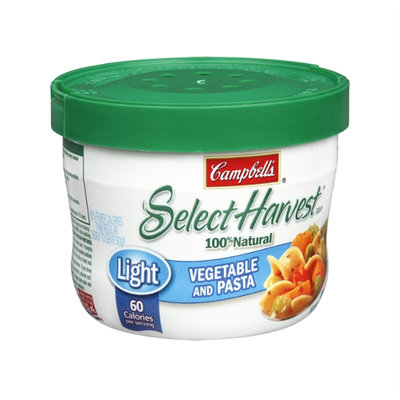 Campbell's® Select Harvest® Light Vegetable Pasta – Microwavable Rts Bowl