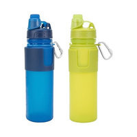 Travelon Set of 2 Flexible Water Bottle(1 Blue Plus 1 Lime) Flexible Water Bottle