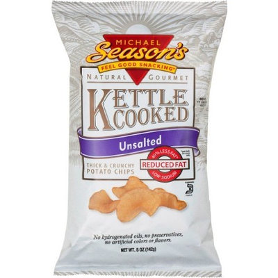 Michael Season's Kettle Cooked Unsalted Potato Chips, 5 Ounce Bags (Pack of 12)
