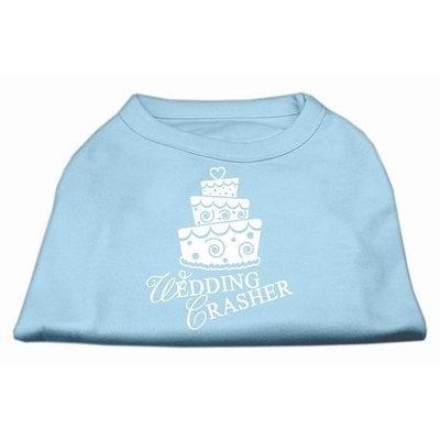 Mirage Pet Products 5180 SMBBL Wedding Crasher Screen Print Shirt Baby Blue Sm 10