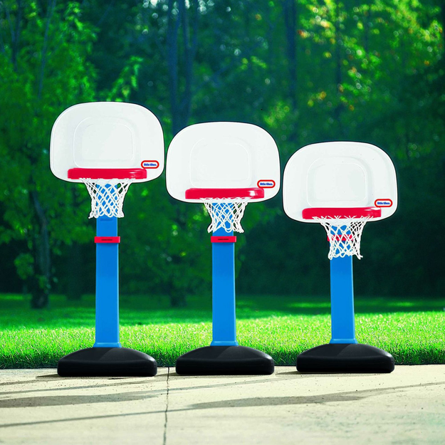 Little Tikes TotSports Easy Score Basketball Set - Round Backboard