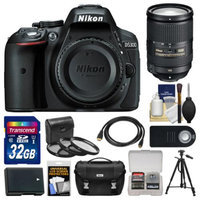 Nikon D5300 Digital SLR Camera Body (Black) with 18-300mm VR Zoom Lens + 32GB Card + Case + Battery + Tripod Kit